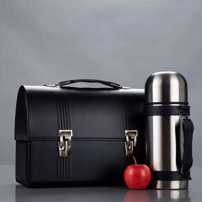 Black Lunchbox with Thermos