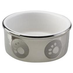Ethical Pet Paw Print Titanium Dog Dish