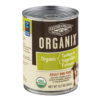 Castor & Pollux Organix Adult Dog Food Turkey & Vegetable Formula