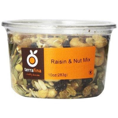 Terrafina Raisin Nut Mix Kosher, 10-Ounce (Pack of 4)
