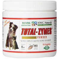 Ultra Pet Products NWC Naturals - Total-Zymes- Digestive Enzymes for Dogs and Cats - Treats 365 Cups of Pet Food