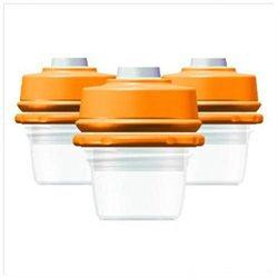 DexBaby 2 oz. Milk Bank Storage Bottles