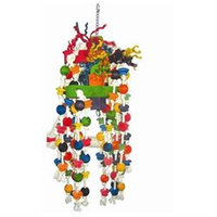 A & E Cage Co. Large Beaded Rope Swing Bird Toy with Knots