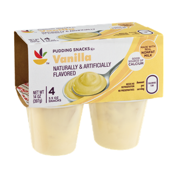Ahold Vanilla Flavored Pudding Snacks - 4 CT