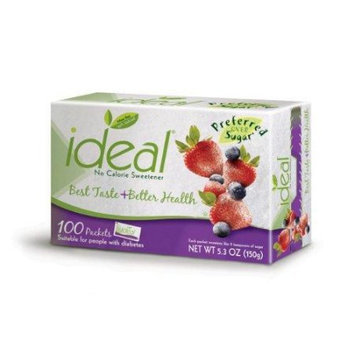 Ideal No Calorie Sweetener 100 Count Pack of 2