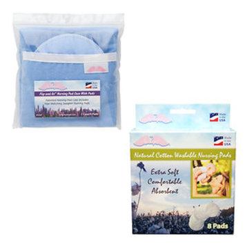 Nuangel, Inc. NuAngel Flip and Go Blue Nursing Pad Case with Washable Pad Set