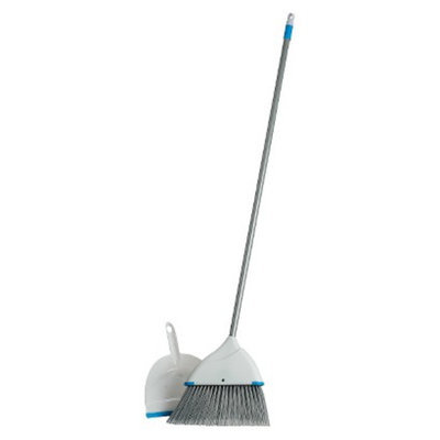 oneCARE Clorox Blue Angle Broom and Dustpan Set