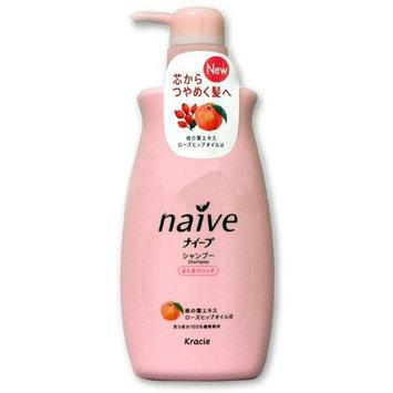 KRACIE Naive Shampoo Peach Pump Moist, 0.5 Pound