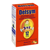Delsym Cough Suppressant Liquid Orange-Flavored