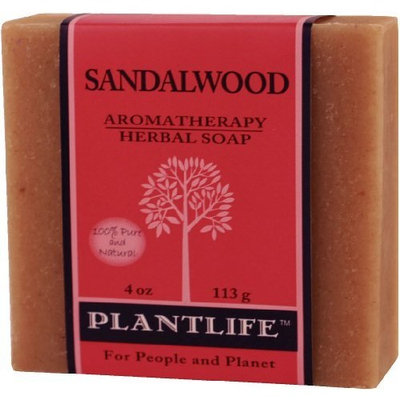 Plantlife Sandalwood 100% Pure & Natural Aromatherapy Herbal Soap 4 oz 113g