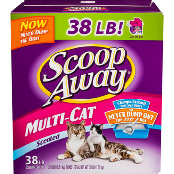 Scoop Away Multi-Cat Scented Litter, 38 lbs