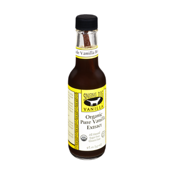 Singing Dog Vanilla Sugar & Gluten Free Organic Pure Vanilla Extract with Whole Vanilla Bean