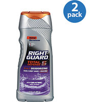Right Guard Total Defense 5 Hydrating Hair & Body Wash + Shaving With Protein