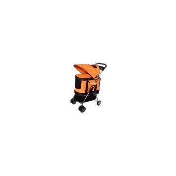 Bestpet Orange Ultimate 4 In 1 Pet Stroller