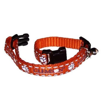 Pet Goods Mfg   Imports Pet Goods Collegiate 3/8-Inch Cat Safety Collar, Clemson University