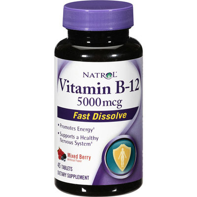 Natrol, B12 5000mcg,fast Disolve, 45 TAB (Pack of 36)