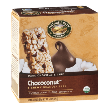 Nature's Path Organic Dark Chocolate Chip Chococonut Chewy Granola Bars - 5 CT