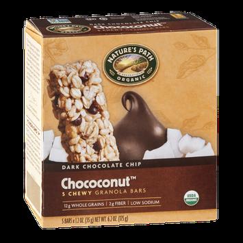 Nature's Path Organic Dark Chocolate Chip Chococonut Chewy Granola Bars - 5 CT
