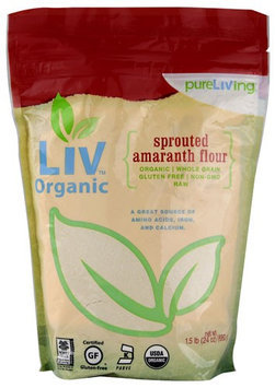 Pure Living Liv Organic Sprouted Amaranth Flour 24 oz