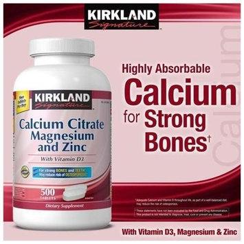 Kirkland Signature Kirkland Calcium Citrate + Vitamin D + Magnesium & Zinc 500 mg 250 Tabs