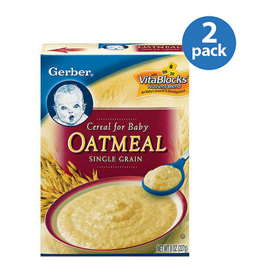 Gerber Oatmeal Single Grain Cereal For Baby 8 oz