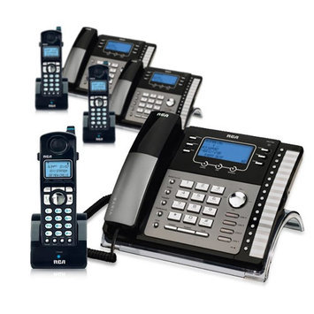 Ge/rca RCA ViSYS 25425RE1 & H5401RE1 (3-Pack) GE / RCA Cordless / Corded Phone System