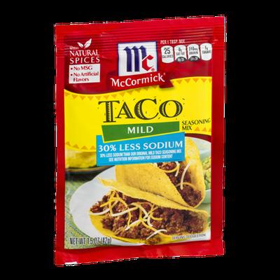 McCormick Taco Mild Seasoning Mix 30% Less Sodium