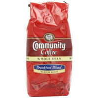 Community Coffee Whole Bean Coffee, Breakfast Blend, 12-Ounce Bags (Pack of 3)