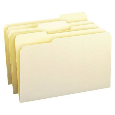 Smead 1/3 Cut Assorted Position One-Ply Top Tab Legal File Folders-