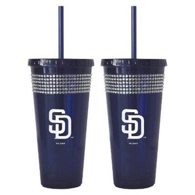 Boelter Brands MLB Orioles Set of 2 Bling Straw Tumbler - 22oz