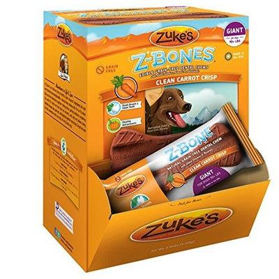 Zuke's Zukes ZBones Edible Dental Chews Giant Clean Carrot Crunch 12 ct (3.93 lbs)