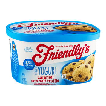 Friendly's Frozen Yogurt Caramel Sea Salt Truffle
