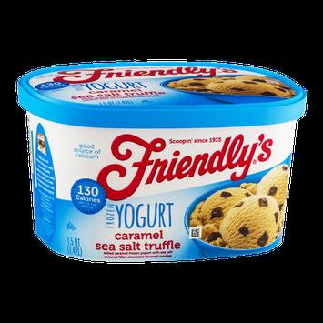 Friendly's Frozen Yogurt Caramel Sea Salt Truffle