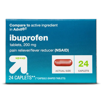 up & up Ibuprofen 200 mg Pain Relief Caplets - 24 Count