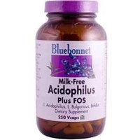 BlueBonnet Probiotic Acidophilus Plus FOS Vegetarian Capsules, 250 Count