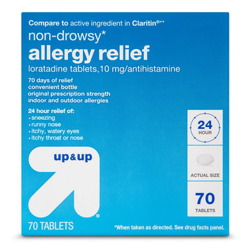 up & up Non-Drowsy Allergy Relief 10mg Antihistamine Loratadine Tablets - 60 Count