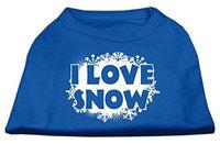 Ahi I Love Snow Screenprint Shirts Blue Sm (10)
