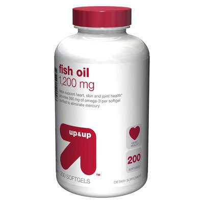 up & up Fish Oil 1200 mg Softgels - 200 Count