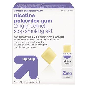 Up & Up Nicotine Gum 2mg 110ct Original