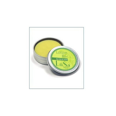Lusa Organics Tea Tree & Mint Lotion Bar - Handcrafted with All Natural and Certified Organic Ingredients - Moisturize and Soothe Dry Skin While Leaving A Beautiful Fragrance - 1.55 ounces