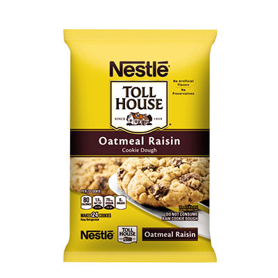 Nestlé® Toll House® Refrigerated Oatmeal Raisin Cookie Bar Dough