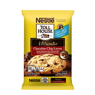 Nestlé® Toll House® Ultimates™ Chocolate Chip Lovers Cookie Bar Dough