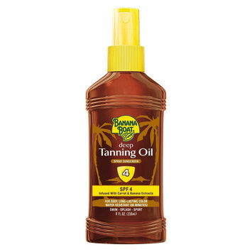 Banana Boat Dark Tanning Oil SPF 4 - 8 oz
