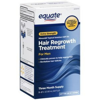 Equate - Hair Regrowth Treatment for Men with Minoxidil 5% Extra Strength, 3 Month Supply