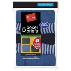 Hanes 5-Pack Red Label Stripe Boxer Brief