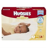 Huggies Little Snugglers Diapers Size 1 - 204 ct