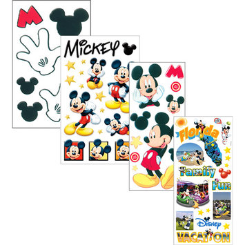 Trends International 271298 Disney Stickers-Borders Packaged-Mickey Themepark Phrase Stickers