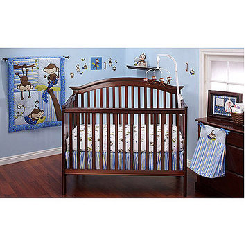 Little Bedding by NoJo 3 Little Monkeys Boys 10pc Crib Set - CROWN CRAFTS INFANT PRODUCTS, INC.