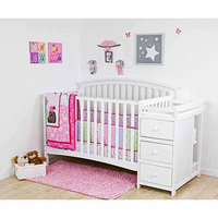 Dream On Me Niko 5 in 1 Convertible Crib with Changer - White
