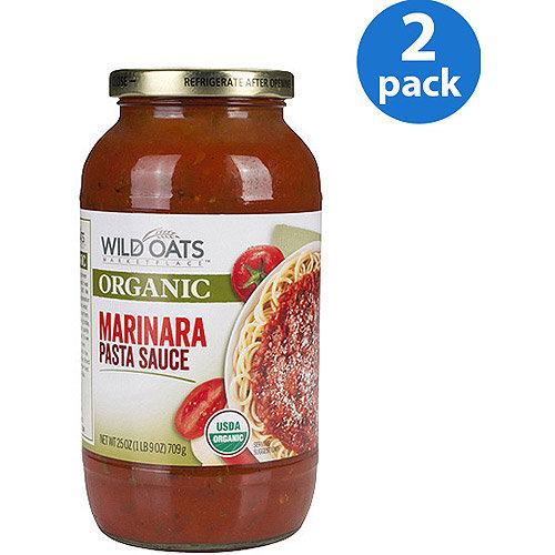 Wild Oats Organic Marinara Pasta Sauce, 25 oz (Pack of 2)